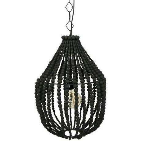 BePureHome Hanglamp Funale kroonluchter zwart hout L 54xØ42cm