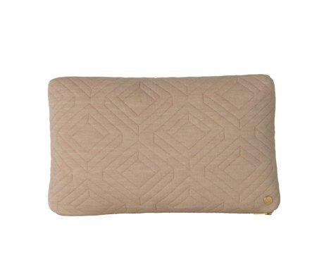 Ferm Living Sierkussen Quilt camel bruin textiel 40x25cm