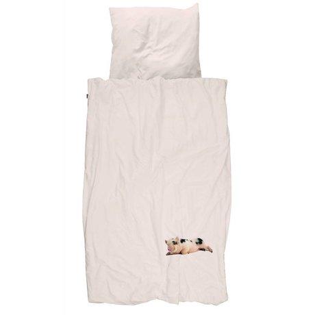 Snurk Beddengoed Dekbedovertrek Miss Peggy roze 140x200/220 cm incl kussensloop 60x70cm