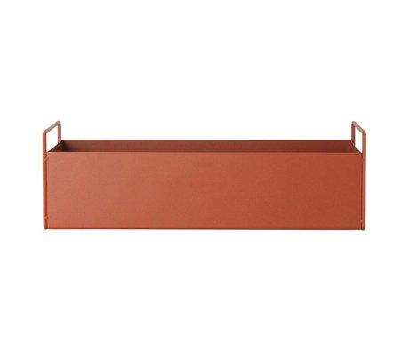 Ferm Living Box voor plant oranje metaal S 45x14,5x17cm