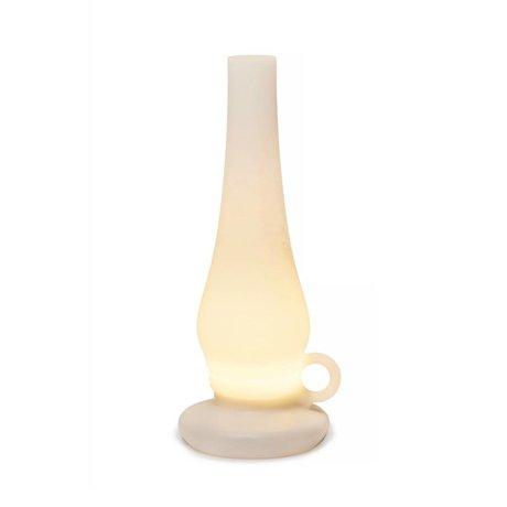 Xala Tafellamp Lilly LED draadloos wit kunststof ø31x12cm