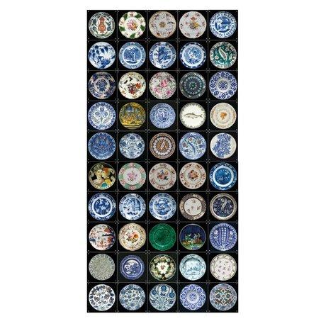 IXXI Wanddecoratie V&A borden collage multicolour papier L 50 kaarten 20x20cm
