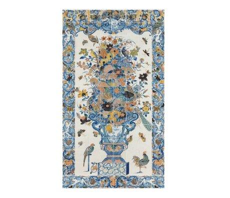 IXXI Wanddecoratie Rijksmuseum tegeltableau met bloemen multicolour papier 112x196cm