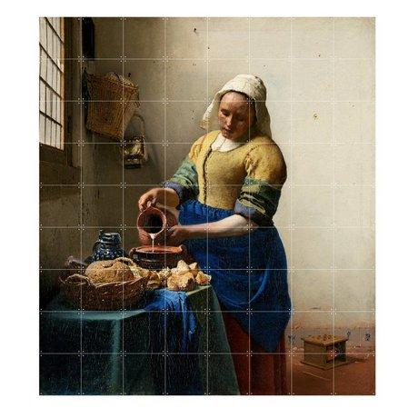 IXXI Wanddecoratie Vermeer Het melkmeisje multicolour papier L 160x180cm