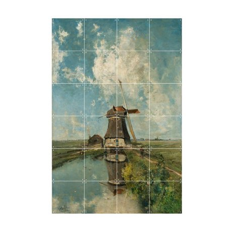 IXXI Wanddecoratie Gabriël In de maand juli multicolour papier S 80x120cm