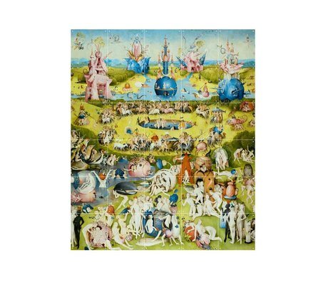 IXXI Wanddecoratie Bosch Garden of earthly delights multicolour papier S 100x120cm