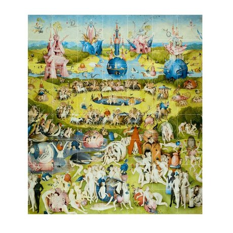 IXXI Wanddecoratie Bosch Garden of earthly delights multicolour papier L 140x160cm