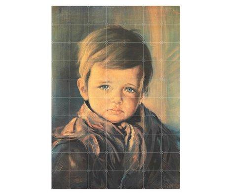IXXI Wanddecoratie Crying boy multicolour papier L 140x200cm