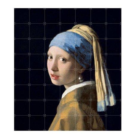 IXXI Wanddecoratie Vermeer Het meisje met de parel multicolour papier L 140x160cm