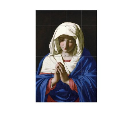 IXXI Wanddecoratie Da Sassoferrato The virgin in prayer multicolour papier S 80x120cm