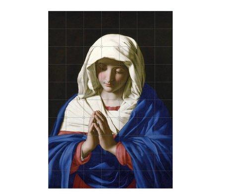 IXXI Wanddecoratie Da Sassoferrato The virgin in prayer multicolour papier L 140x200cm
