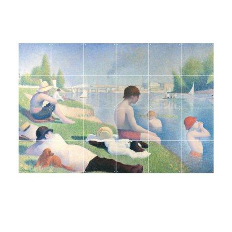 IXXI Wanddecoratie Seurat Bather at Asnières multicolour papier S 120x80cm