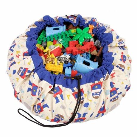 Play & go Opbergzak/speelkleed Super Hero multicolour katoen ø140cm