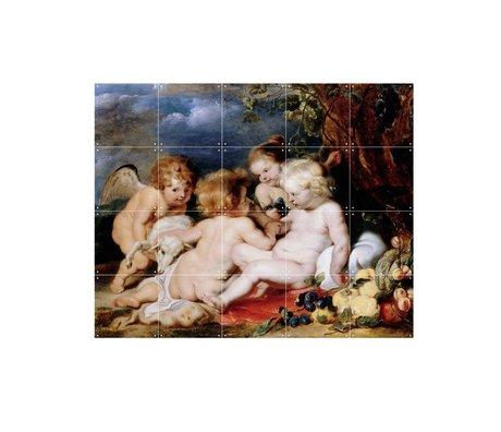 IXXI Wanddecoratie Rubens Christus met Johannes de Doper en Engelen multicolour S 100x80cm