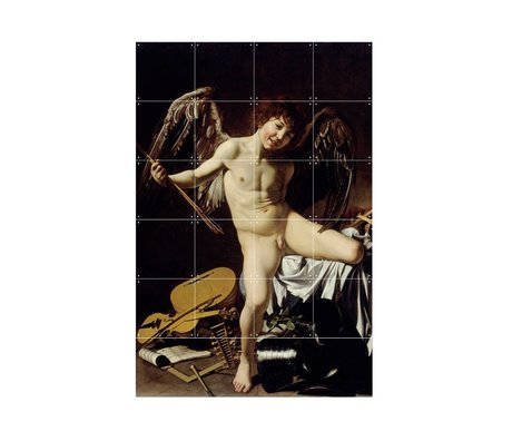 IXXI Wanddecoratie Caravaggio Cupido als winnaar multicolour papier S 80x120cm