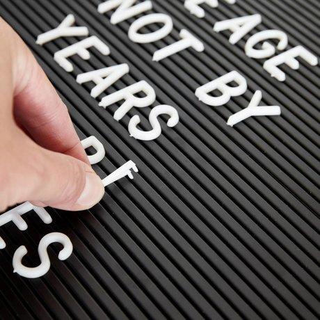 Housedoctor Letterset letterbord wit kunststof