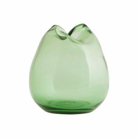 Housedoctor Vaas Wave groen glas ø 15x16cm