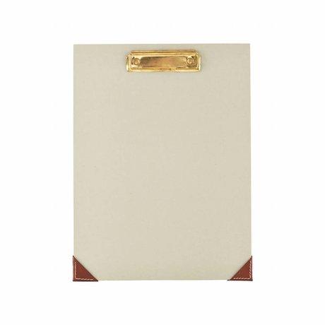 Housedoctor Klembord licht grijs groen papier leer 24X32cm