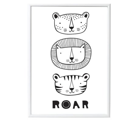 A Little Lovely Company Poster Roar papier 50x70cm