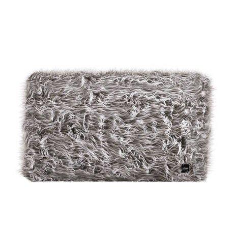 Vetsak Hocker Flokati grijs polyester M 58x58x40cm