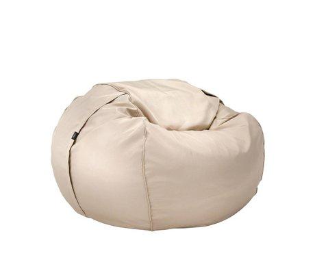 Vetsak Zitzak Free outdoor eenpersoons beige polyester Ø110x70cm 600 liter