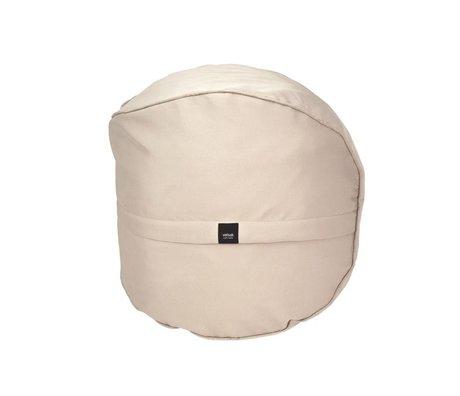Vetsak Voetenbank Free outdoor beige polyester Ø60x60cm 100 liter