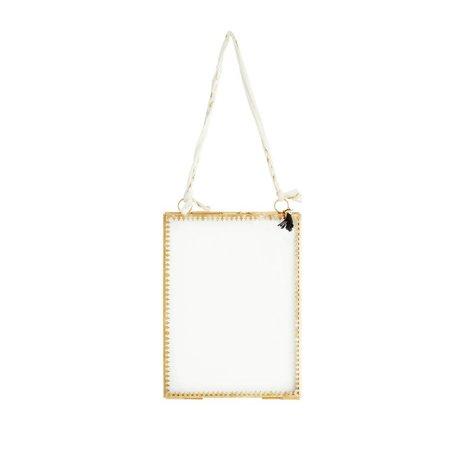 Madam Stoltz Fotolijst glas brass goud metaal 15x20cm