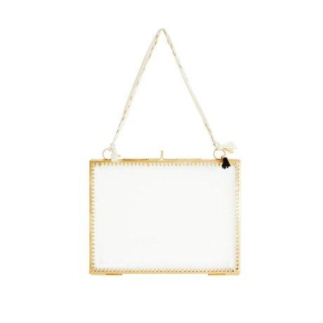 Madam Stoltz Fotolijst glas brass goud metaal 20x15cm