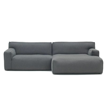 FÉST Bank Clay antraciet grijs Sydney96 1,5-zits en divan links of rechts