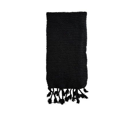 Madam Stoltz Woondeken zwart katoen 130x170cm