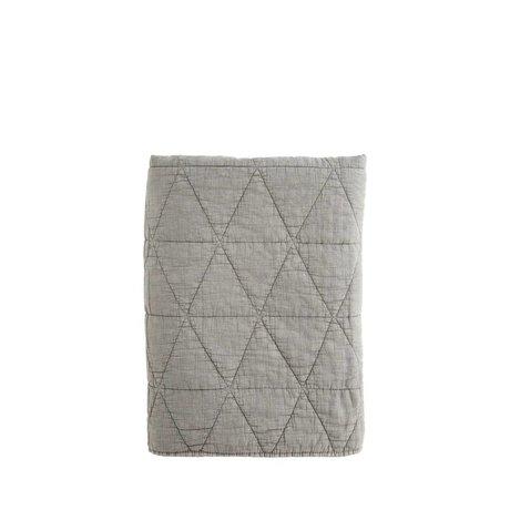 Madam Stoltz Woondeken Quilt charcoal grijs katoen 140x200cm