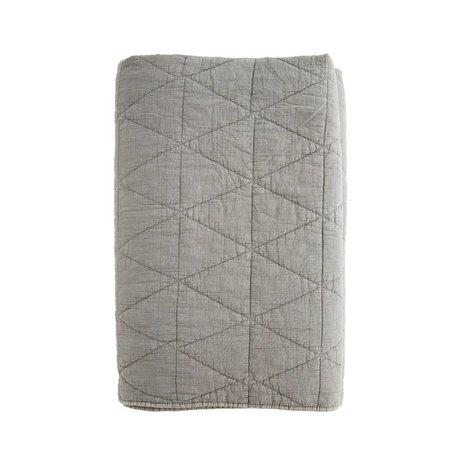 Madam Stoltz Woondeken Quilt Charcoal grijs katoen 240x260cm
