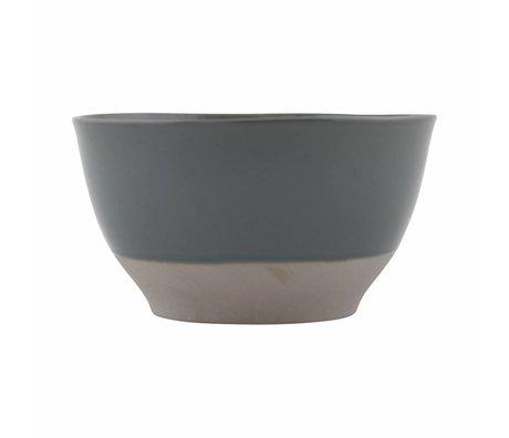 Housedoctor Schaaltje Solid grijs aardewerk ø22x2cm