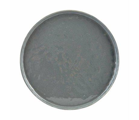 Housedoctor Diner bord Solid donkergrijs aardewerk ø22x2cm