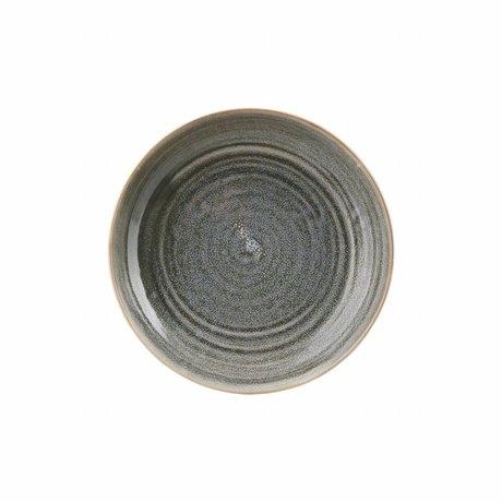 Housedoctor Diner bord Nord groen aardewerk ø26,5x5,1cm