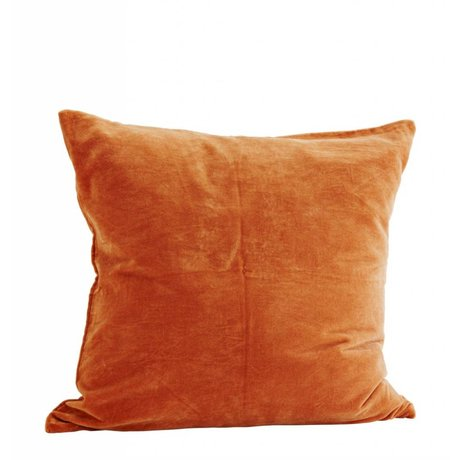 Madam Stoltz Kussenhoes caramel bruin katoen 60x60cm