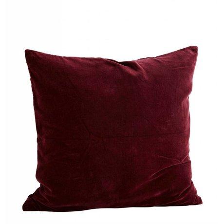 Madam Stoltz Kussenhoes bordeaux rood katoen 60x60cm