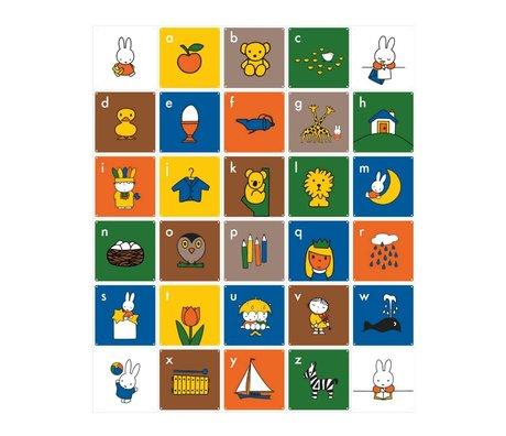 IXXI Wanddecoratie Nijntje A B C Engels multicolour papier 30 kaartjes 20x20cm