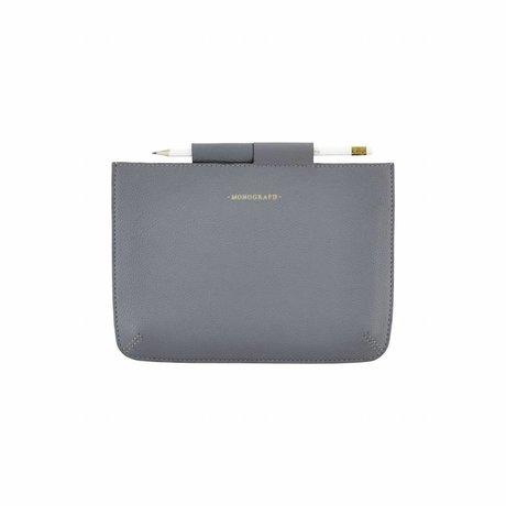 Housedoctor Cover Mini Ipad blauw leer/katoen 24x17cm