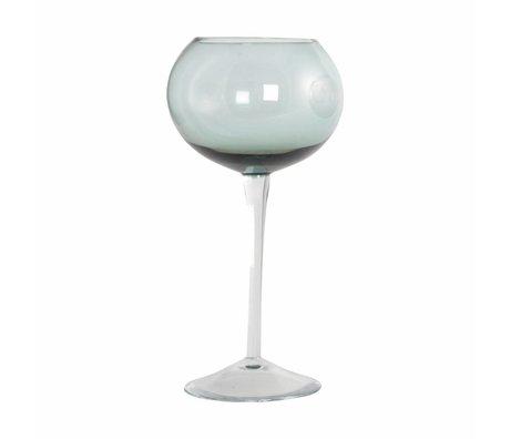 Housedoctor Wijnglas Ball Elegant groen glas dia:10cm h:20cm