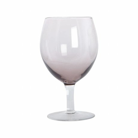 Housedoctor Wijnglas Ball paars glas h:17 cm