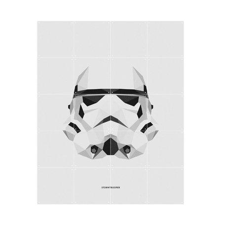 IXXI Wanddecoratie Star Wars Icons Stormtrooper wit papier S 80x100cm