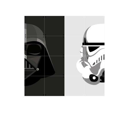 IXXI Wanddecoratie Star Wars Stormtrooper/Darth Vader wit zwart papier S 80x80cm