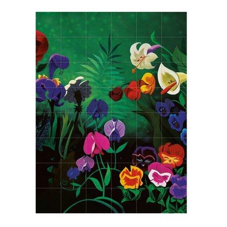 IXXI Wanddecoratie Alice Flowers multicolour papier L 120x160cm