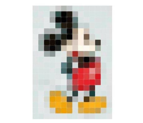 IXXI Wanddecoratie Mickey mouse Pixel multicolour papier 140x200cm
