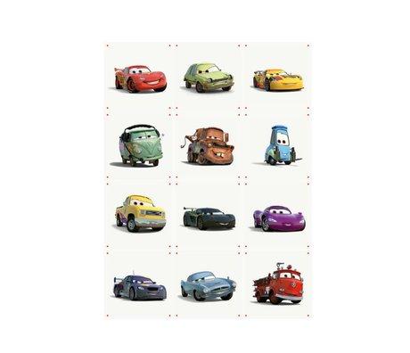 IXXI Wanddecoratie Cars collage multicolour papier S 12 kaartjes 20x20cm