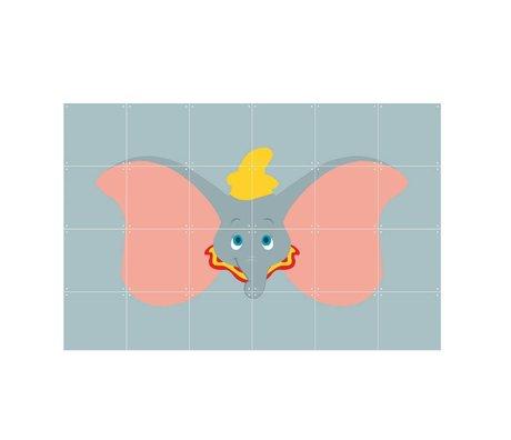 IXXI Wanddecoratie Disney All Stars Dombo grijs multicolour papier 120x80cm