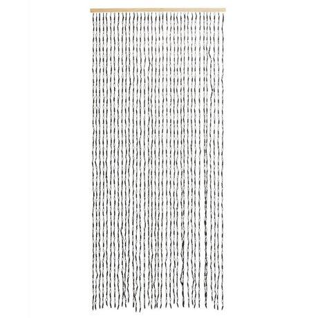 Madam Stoltz Gordijn zwart papier 90x200cm 36 strings
