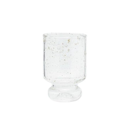 Madam Stoltz Glas transparant Ø7x11cm