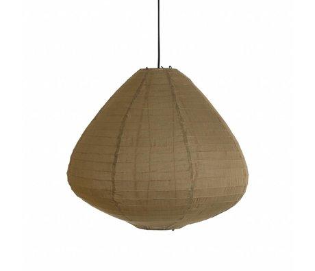 HK-living Lampion khaki bruin stof 65cm